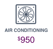air conditioning icon AIR CONDITIONING $950