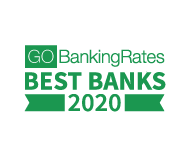 Named best banks of 2020 by go banking rates