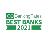 Named best banks of 2021 by go banking rates