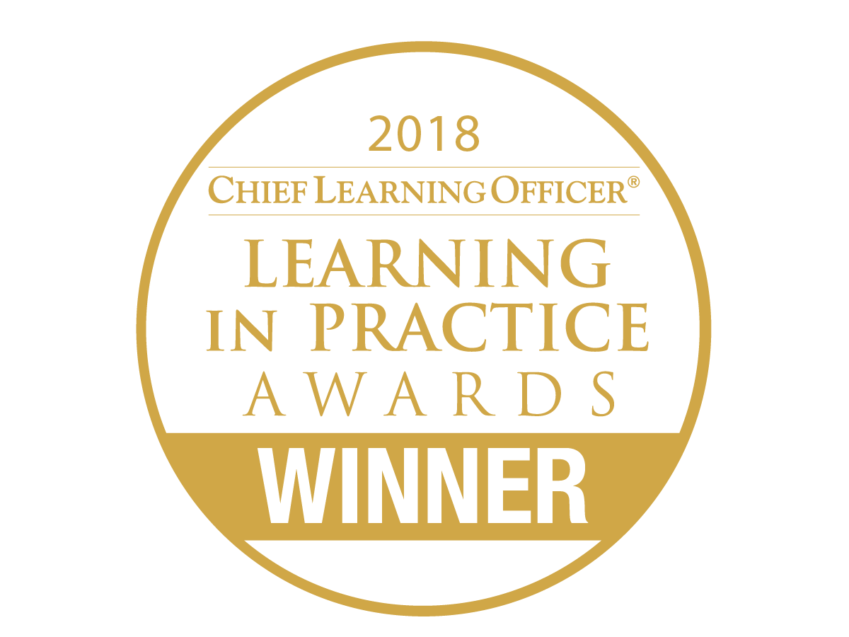 2018 Chief Learning Officer Learning in Practice Awards Winner