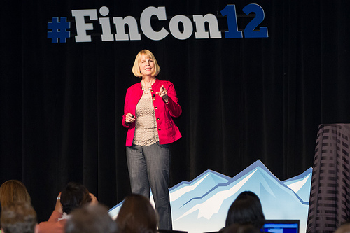 LizWeston speaking at Fincon12