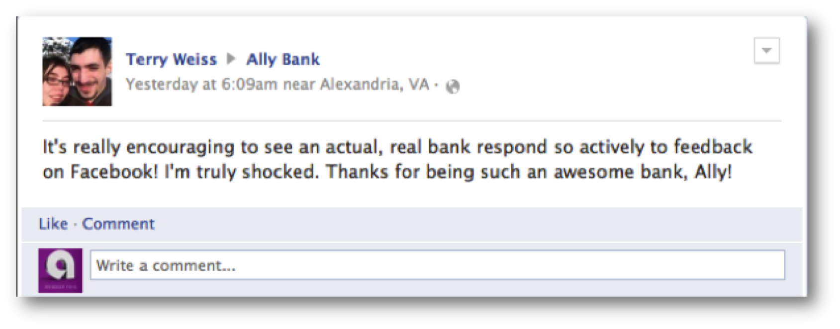 Ally Bank Customer Service - Facebook