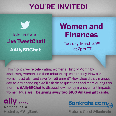 Tuesday, March 25 — Live TweetChat: Women and Finances