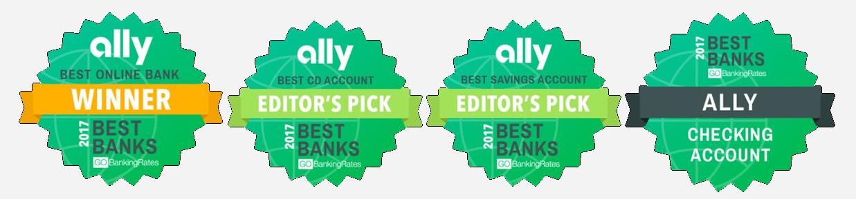 Ally Bank GoBankingRates 2017 Awards