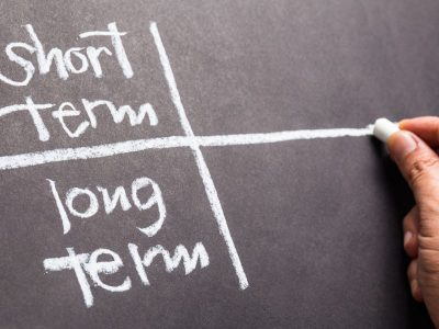 Short Term vs Long Term Chalkboard Chart