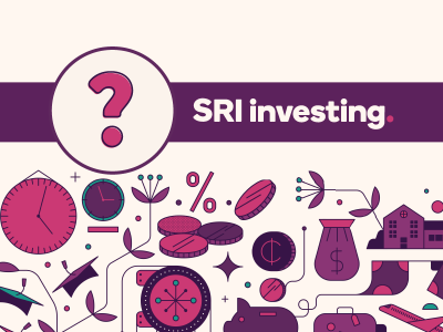 Question mark icon with text, SRI investing