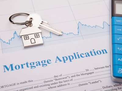 Mortgage application and house keys