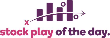 Ally Invest's Stock Play of the Day logo, depicting the name along with a bar chart and arrow indicative of a sports playbook.