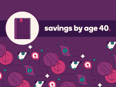 Savings by age 40