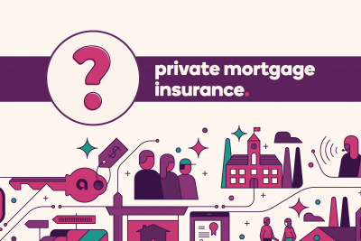 Question mark icon next to text Private Mortgage Insurance
