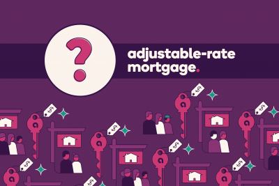 Question mark icon next to text: Adjustable-rate mortgage.