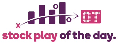 Logo of Ally Invest's Stock Play of the Day Overtime show with an image of stock charts and an arrow flowing through them as they would in a sports playbook.