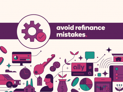 Gears icon with text Avoid refinance mistakes.