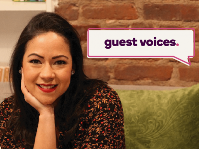 Guest Voices banner over an image of Yai Vargas, CEO of Yai Diversity Consulting and The Latinista