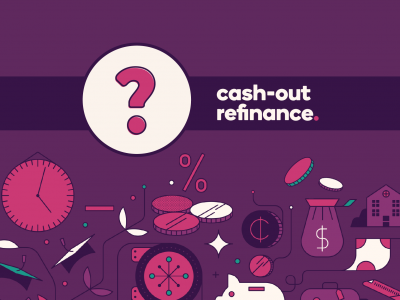 Question mark icon with text, Cash-out refinance