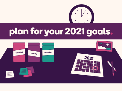 Text that reads: Plan for your 2021 goals