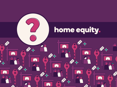 Question mark icon with text, home equity