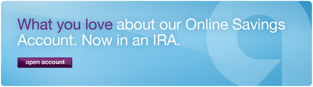 What you love about our Online Savings Account. Now in an IRA.