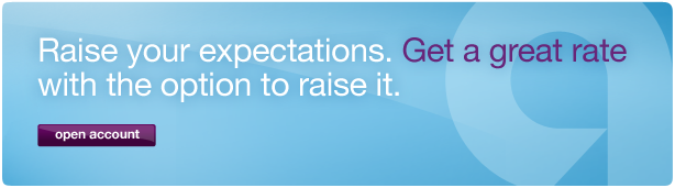 Raise your expectations. Get a great rate with the option to raise it. Click to open account.