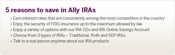 Ally IRAs. Find the right plan for you.