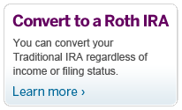 Convert to a Roth IRA.  Beginning in 2010, you can convert your Traditional IRA regardless of income or filing status. Learn More