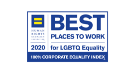 2020 | 2019 | 2018 Best Places to Work Awarded by Human Rights Campaign