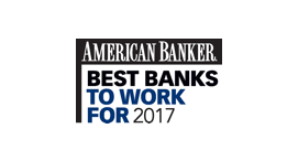 American Banker Best Banks To Work For 2017, Awarded by American Banker