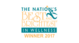 The Nation's Best and Brightest  in Wellness Winner, Awarded by Best and Brightest