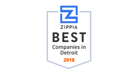 2018 Number 1 Best Company to Work for in Detroit , Awarded by Zippia.