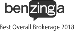 Best overall brokerage of 2018 by Benzinga